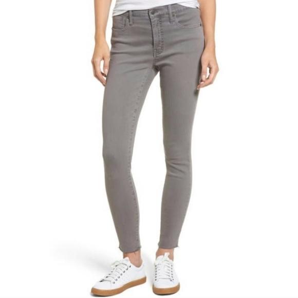 Madewell High Riser Skinny Jeans Grey Denim Jeans